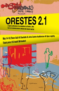Orestes 2.1 runs May 14th-16th