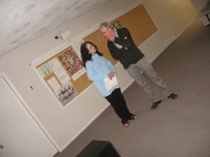 "Rougher Magic rehearsal (Liz & John ""not"" posing)"