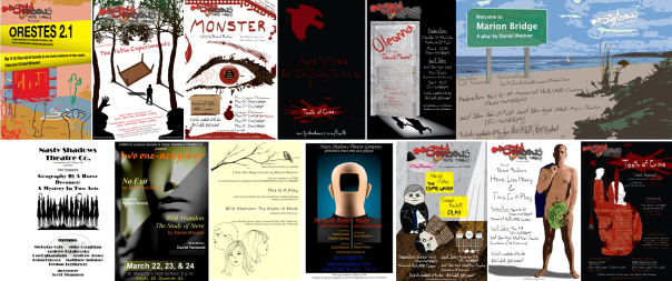 Nasty Shadows productions posters (95% designed by Alberto White)