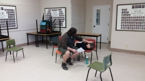 A Story Jones rehearsal - Matthew Spinney & Michael Holmes-Lauder