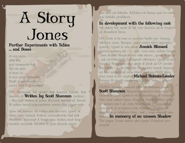 A STORY JONES 2019