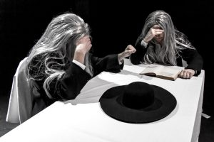 LISTENER (Scott Shannon) & READER (Michael Holmes-Lauder) in Samuel Beckett's OHIO IMPROMPTU