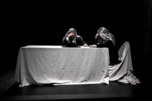LISTENER (Scott Shannon) & READER (Michael Holmes-Lauder) in Samuel Beckett's OHIO IMPROMPTU (Fredericton)