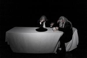 LISTENER (Scott Shannon) & READER  (Michael Holmes-Lauder) in Samuel Beckett's OHIO IMPROMPTU (Moncton)