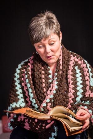 Julie MacDonald on set for A STORY JONES
