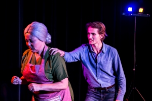 Julie MacDonald as 'Older Female Actor' & Simon Peterson as 'Male Actor' in THIS IS A PLAY (Fredericton)