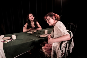 Annick Blizzard as 'Lupe' & Kat Hall as 'Liza' in Sam Shepard's ACTION (Fredericton)